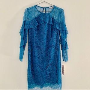 NANETTE LEPORE TURQUOISE LACE DRESS SIZE 4 NEW W T